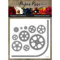 Paper Rose - Dies - Cogs and Track Border