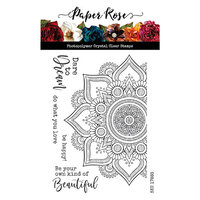 Paper Rose - Clear Photopolymer Stamps - Beautiful Mandala