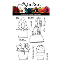 Paper Rose - Clear Photopolymer Stamps - Cactus Greetings
