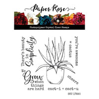 Paper Rose - Clear Photopolymer Stamps - Cactus Quotes