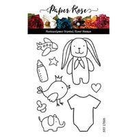 Paper Rose - Clear Photopolymer Stamps - Baby Doodles