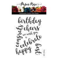 Paper Rose - Clear Photopolymer Stamps - Sentiments Two