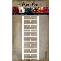Paper Rose - Dies - Brick Wall Border