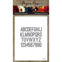 Paper Rose - Dies - Mini Alphabet and Numbers