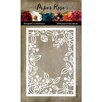 Paper Rose - Dies - Ella's Garden Rose Rectangle Frame