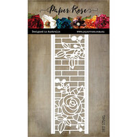 Paper Rose - Dies - Ella's Garden Rose and Brick Wall Border