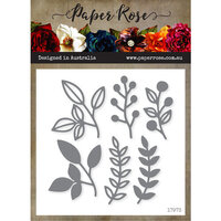 Paper Rose - Dies - Ella's Garden Layering Scribble Leaves