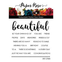 Paper Rose - Clear Photopolymer Stamps - Beautiful Words