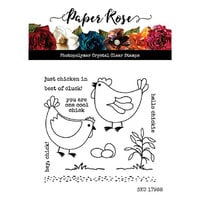 Paper Rose - Clear Photopolymer Stamps - Hey Chick