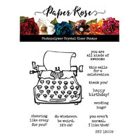 Paper Rose - Clear Photopolymer Stamps - Typed Sentiments