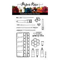 Paper Rose - Clear Photopolymer Stamps - Artist's Tools