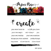 Paper Rose - Clear Photopolymer Stamps - Create Words
