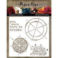 Paper Rose - 6 x 6 Stencil - Colour Wheel Love