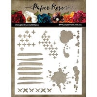 Paper Rose - 6 x 6 Stencil - Mark Maker 1