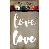 Paper Rose - Dies - Love - Large Layered Word
