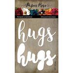 Paper Rose - Dies - Hugs - Large Layered Word