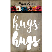 Paper Rose - Dies - Hugs - Large Layered Word