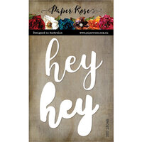 Paper Rose - Dies - Hey - Large Layered Word