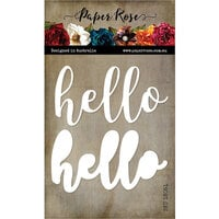 Paper Rose - Dies - Hello - Large Layered Word