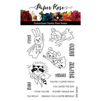 Paper Rose - Clear Photopolymer Stamps - Super Hero Fun