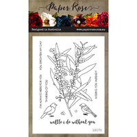 Paper Rose - Clear Photopolymer Stamps - Wattle I Do
