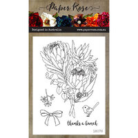 Paper Rose - Clear Photopolymer Stamps - Thanks a Bunch