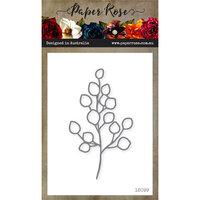 Paper Rose - Dies - Baby Blue Leaf - Medium - Outline