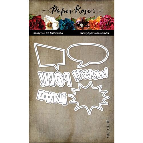 Paper Rose - Dies - Comic Strip Elements