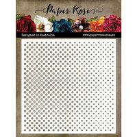 Paper Rose - 6 x 6 Stencil - Half Tone