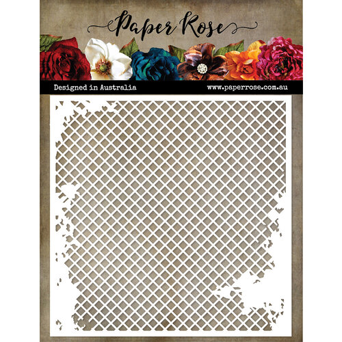 Paper Rose Distressed mesh stencil