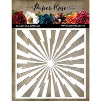 Paper Rose - 6 x 6 Stencil - Super Hero Rays