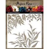 Paper Rose - 6 x 6 Stencil - Gum Leaf
