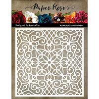 Paper Rose - 6 x 6 Stencil - Moroccan Lattice