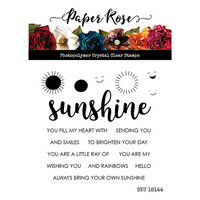 Paper Rose - Clear Photopolymer Stamps - Sunshine Words