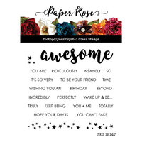 Paper Rose - Clear Photopolymer Stamps - Awesome Words