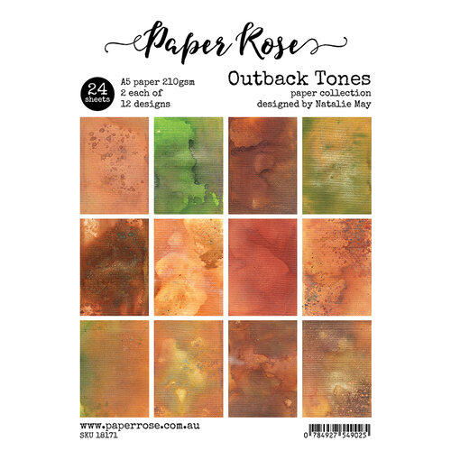 Paper Rose - A5 Paper Pack - Outback Tones