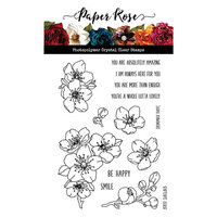 Paper Rose - Clear Photopolymer Stamps - Lovely Florals Blossom Flowers
