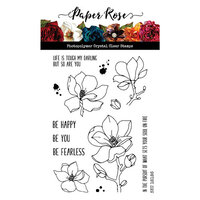 Paper Rose - Clear Photopolymer Stamps - Lovely Florals Magnolia