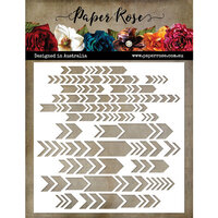 Paper Rose - 6 x 6 Stencil - Chevron Arrows