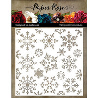 Paper Rose - 6 x 6 Stencil - Snowflakes
