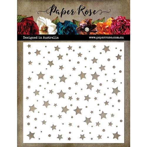 Paper Rose - 6 x 6 Stencil - Stars and Spots