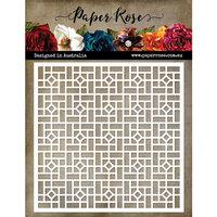 Paper Rose - 6 x 6 Stencil - Modern Geometric