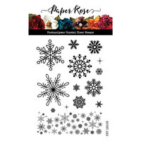Paper Rose - Clear Photopolymer Stamps - Christmas Snowflakes
