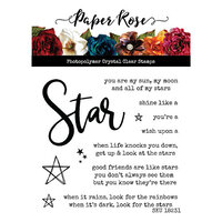 Paper Rose - Clear Photopolymer Stamps - Star Words