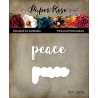 Paper Rose - Dies - Peace Layered