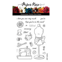 Paper Rose - Clear Photopolymer Stamps - Sew Lovely