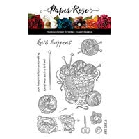 Paper Rose - Clear Photopolymer Stamps - Knit Happens