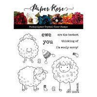 Paper Rose - Clear Photopolymer Stamps - Wooly Sorry