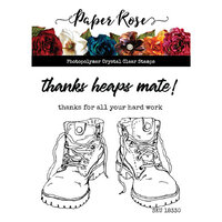 Paper Rose - Clear Photopolymer Stamps - Work Boots