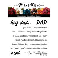 Paper Rose - Clear Photopolymer Stamps - Hey Dad